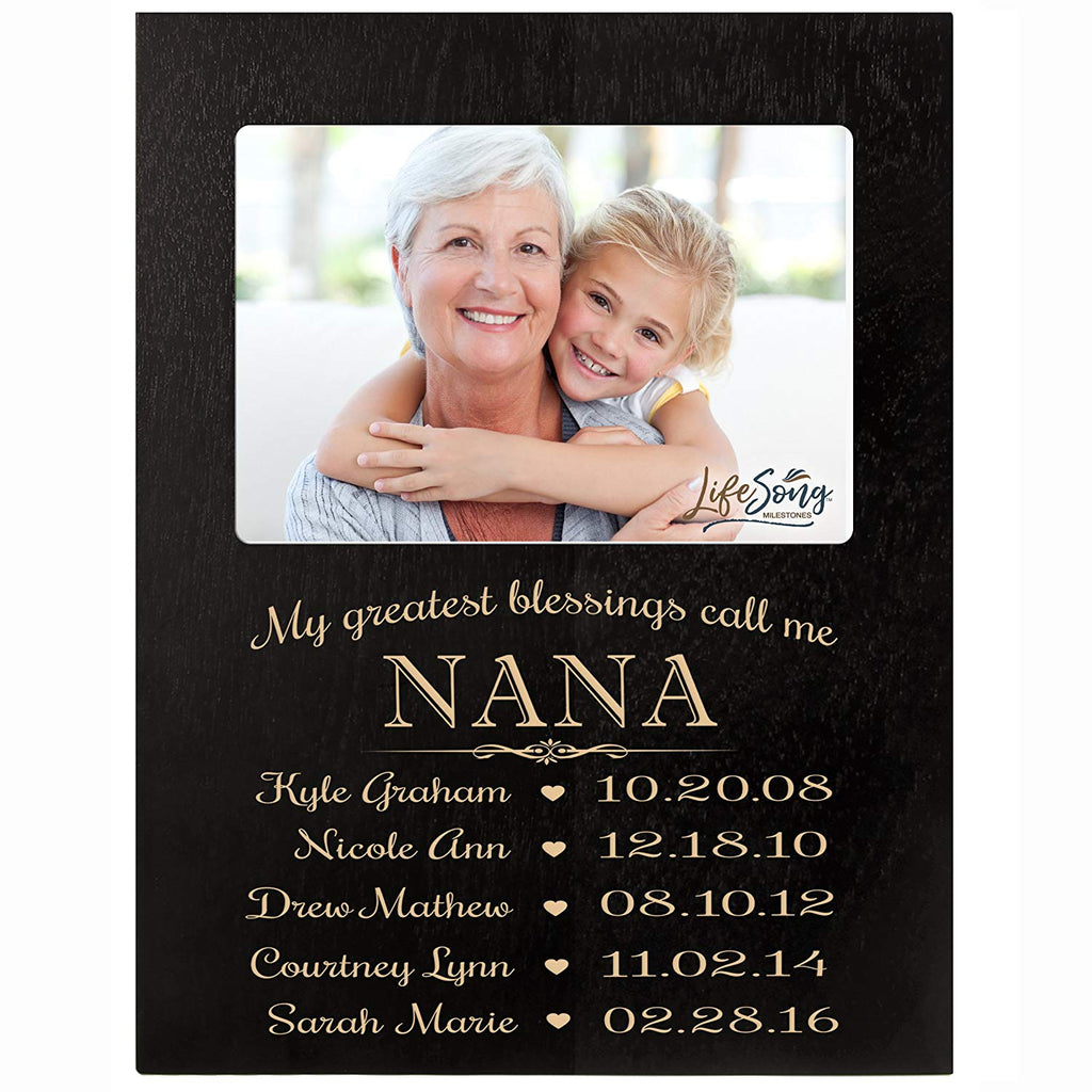 Personalized Gift For Nana Picture Frame With Childrens Names And