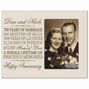 Personalized 70th Anniversary Photo Frame - Happy Anniversary