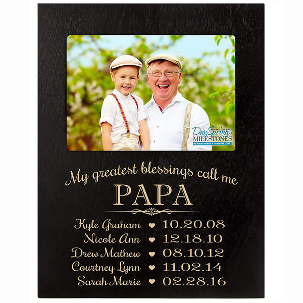Personalized for Papa Photo Frame - My Greatest Blessings Call Me Papa