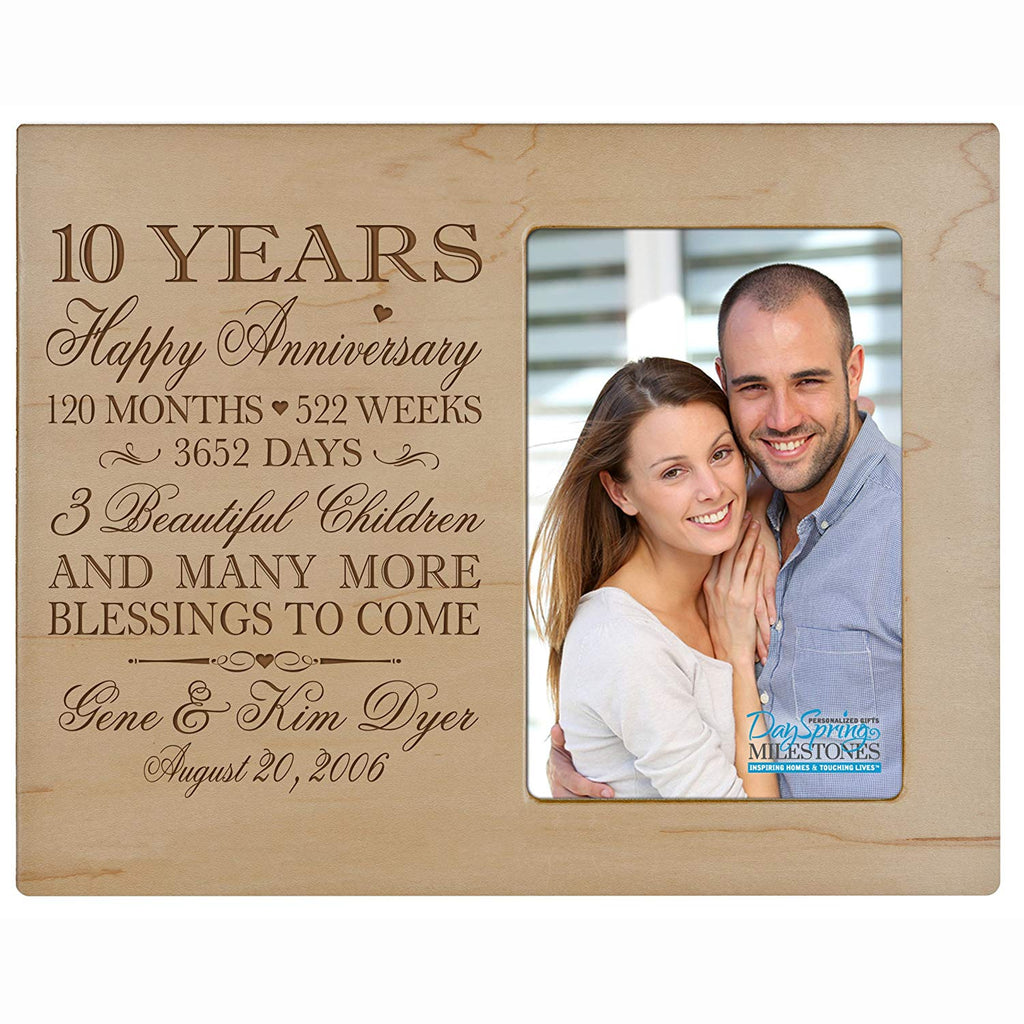 Personalized ten year anniversary gift for her him couple Custom ...