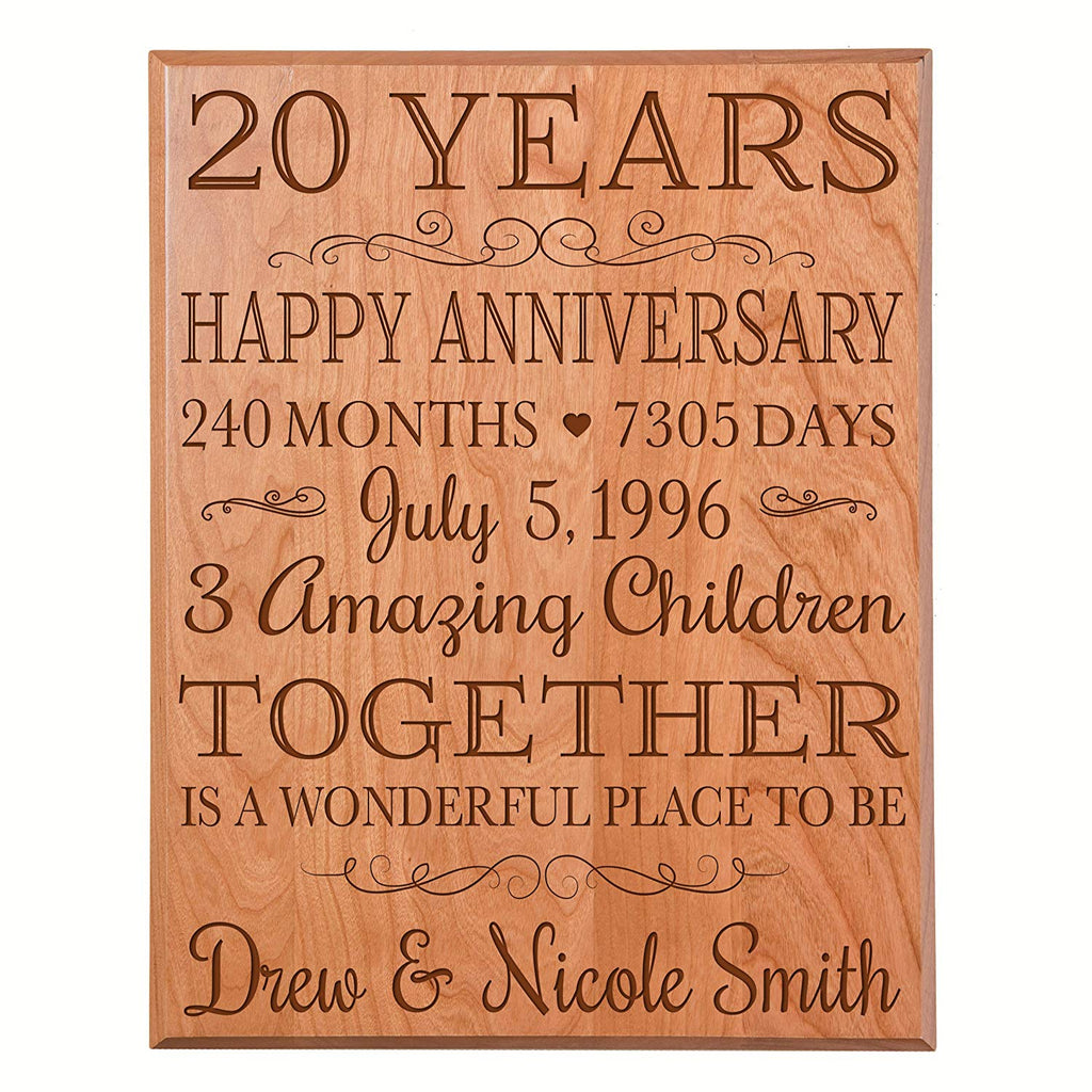 personalized 20th anniversary gifts ideas for couple, 20th happy