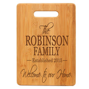 Personalized Family Bamboo Cutting Board Gift