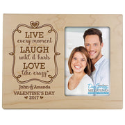 valentine's day gift frame picture maple