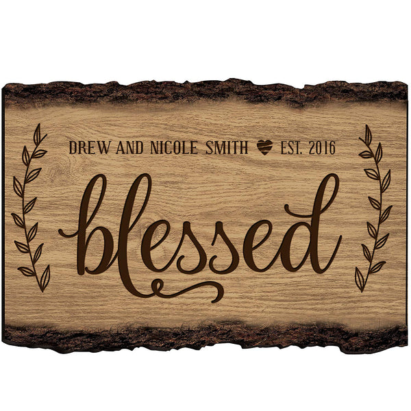 Personalized Family Gift Custom Family Name Sign Engraved with Family Name and Established Date Be Still and Know That I Am God By LifeSong Milestones (Happily Ever After)