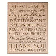 retirement gift for women men dad mom plaque sign wall decor hanging maple