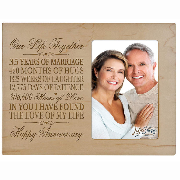 35th Anniversary Photo Frame - Our Life Together Maple