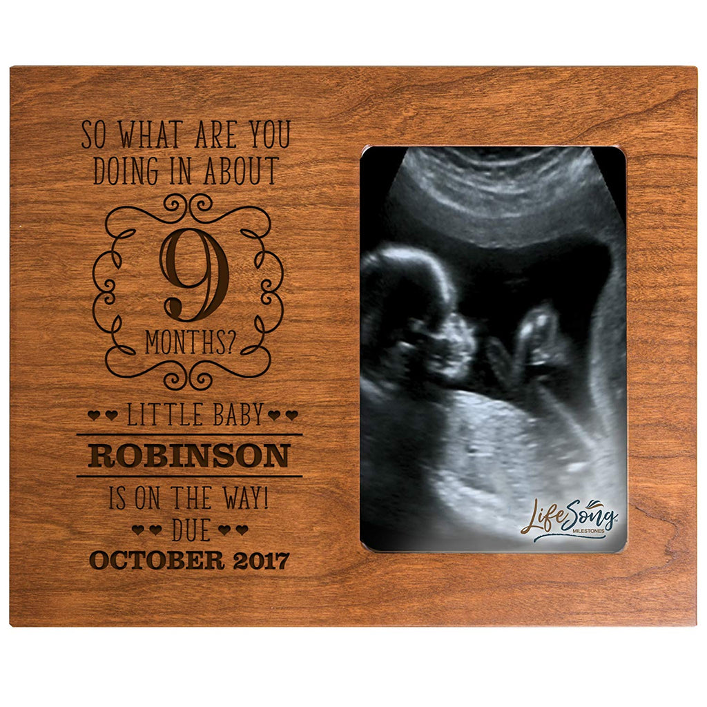 Lifesong Milestones Personalized New Baby Sonogram Picture Frame For B
