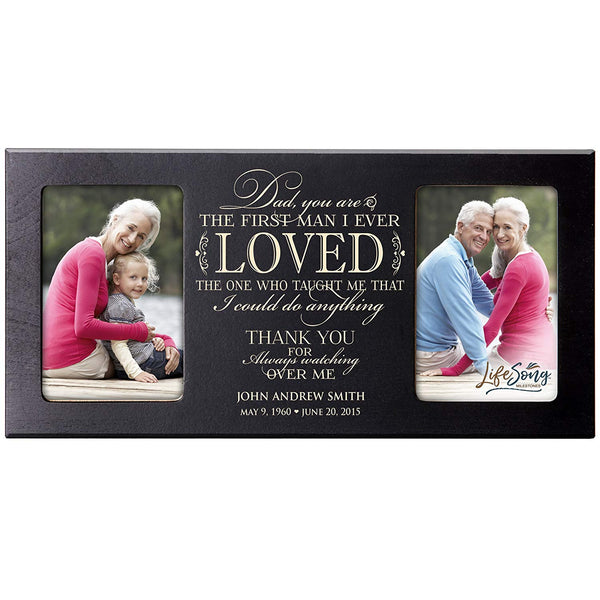 Personalized Memorial Double Picture Frame - First Man I Ever Loved