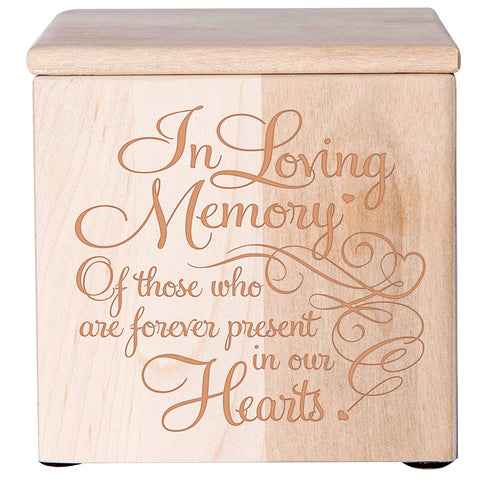 Wooden Cremation Urn for Human Ashes holds 49 cu in In Loving Memory