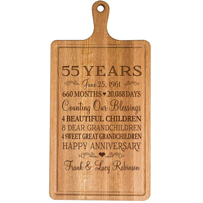Personalized 55th Anniversary Cutting Board
