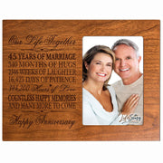 45th Anniversary Photo Frame - Our Life Together Cherry