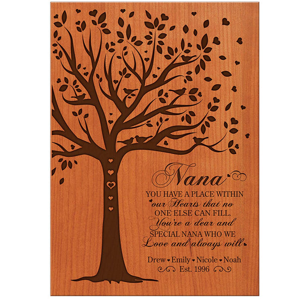 Personalized Gift for Grandmother Custom wall plaque for Grandma