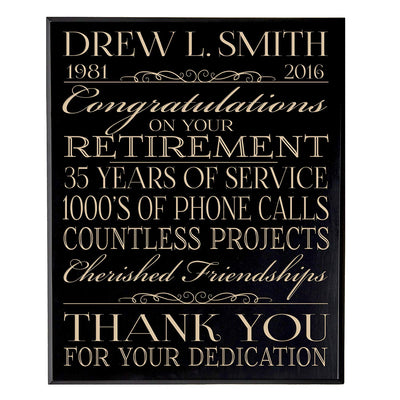 retirement gift for women men dad mom plaque sign wall decor hanging black