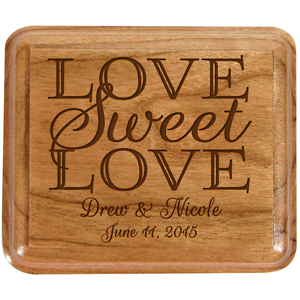 Personalized Wooden Double Wedding Ring Box