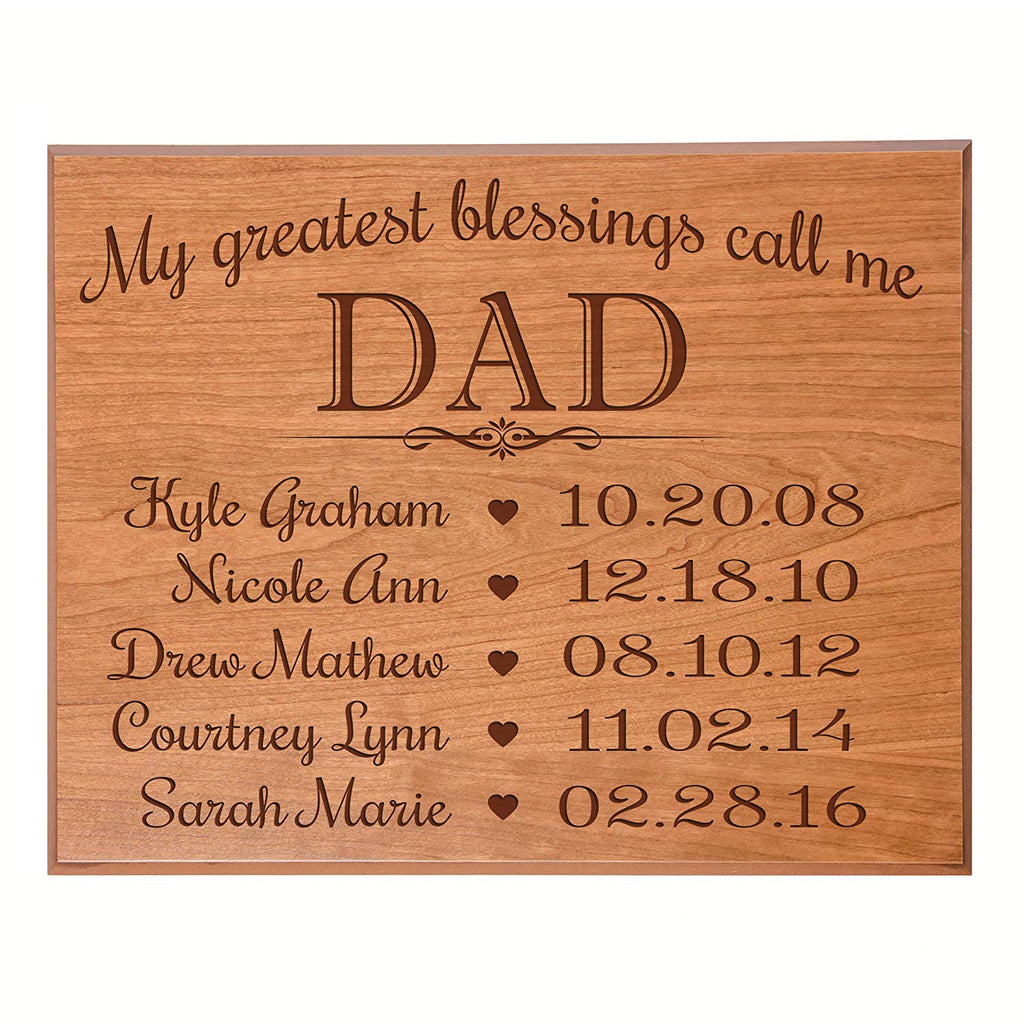 Gifts For Dad Birthday Gift Ideas Engraved Sign With Year Established Personalized Childrens Names Birth