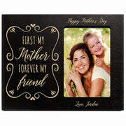 Personalized Happy Mother's Day Photo Frame - First My Mother Black