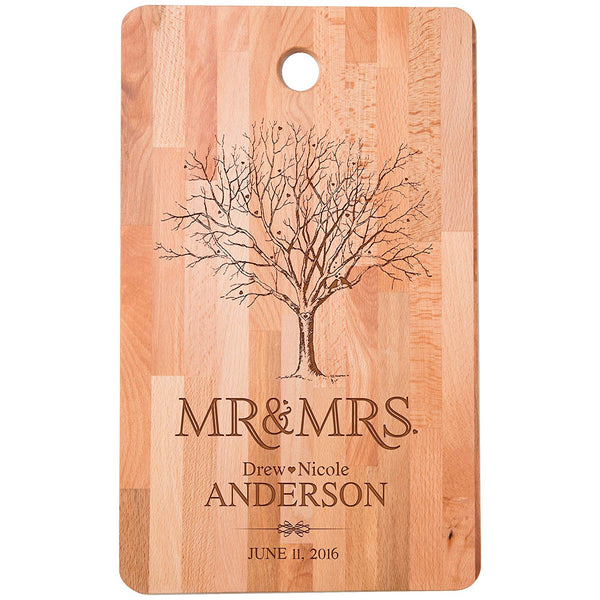 Bamboo Cutting Board - Mr and Mrs Personalized Engraving
