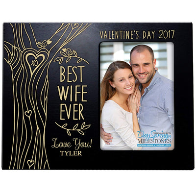 valentine's day best wife ever frame black