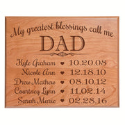 Personalized Children's Name's Wall Plaque - Dad