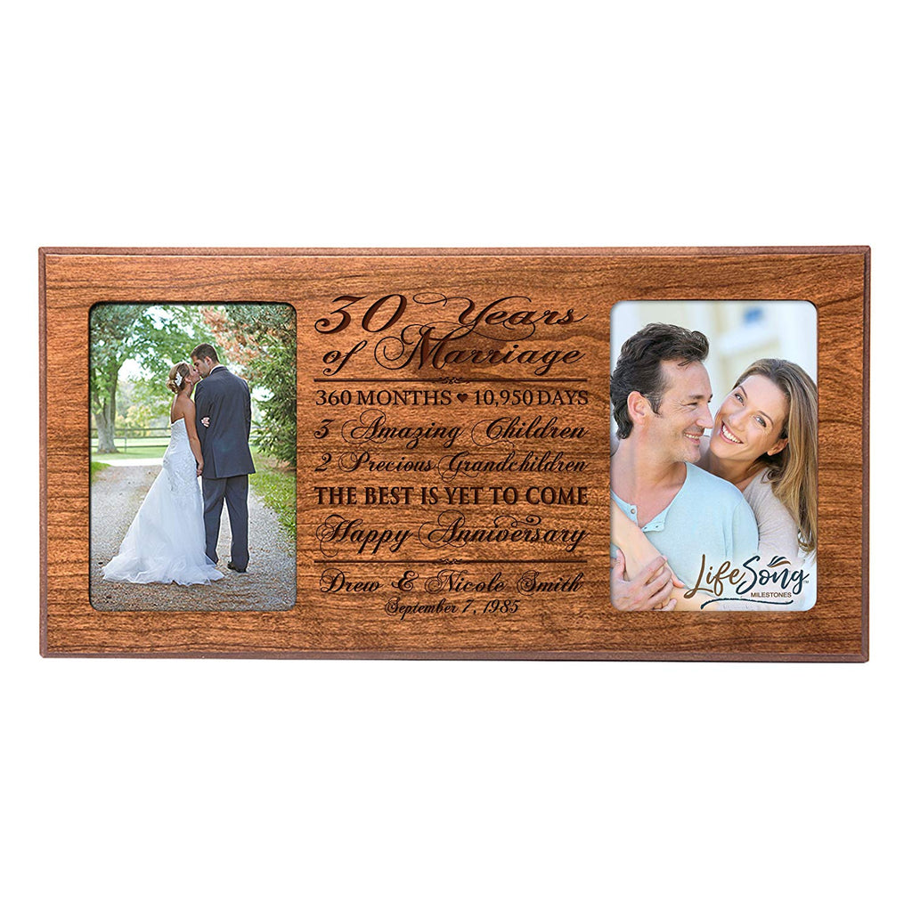 ... Personalized 30 year anniversary gift her him couple Custom Engraved wedding celebration for Husband wife girlfriend ...
