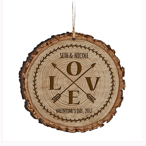 Personalized Valentine's Day Ornaments Love