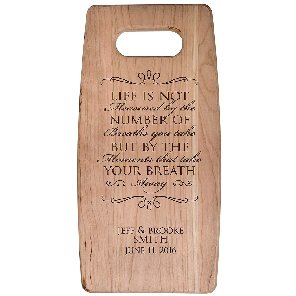Personalized Cherry Cutting Board - Life Is Not Measured
