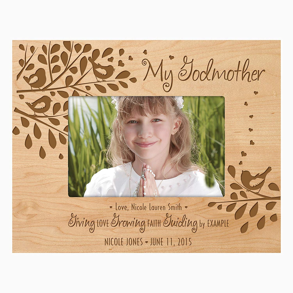 Gift For Godmother From Godchild Personalized Godparents Photo Frame