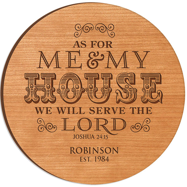 Personalized Wedding Anniversary Gifts with Family Established Year As For Me and My House Lazy Susan Custom Engraved with Family Names and Dates by LifeSong Milestones