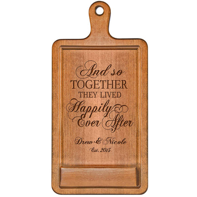 Personalized Wedding Cookbook iPad Holder - And So Together
