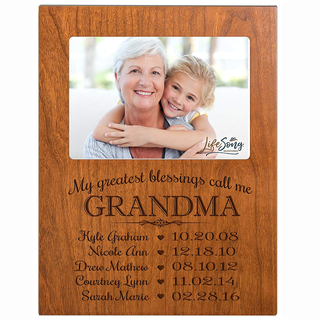 Personalized Gift For Grandma Picture Frame With Childrens Names