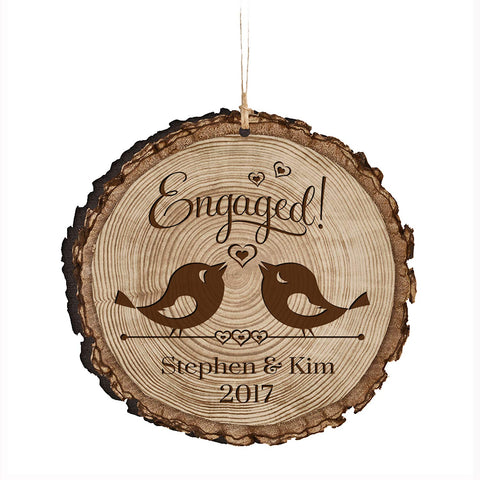 Personalized Couple Christmas Engaged Ornaments Engaged