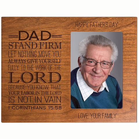 Personalized Fathers day gift Custom Engraved picture frame