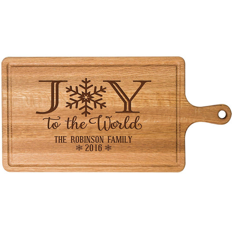 Personalized Christmas Cherry Cutting Board Joy To The World