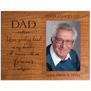 Personalized Happy Fathers Day Engraved Picture Frame - Guiding Hand Cherry