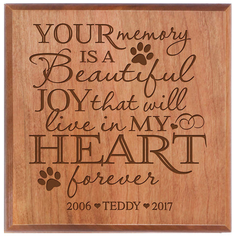 Cherry personalized urn pet ashes cremation sympathy memorial animal