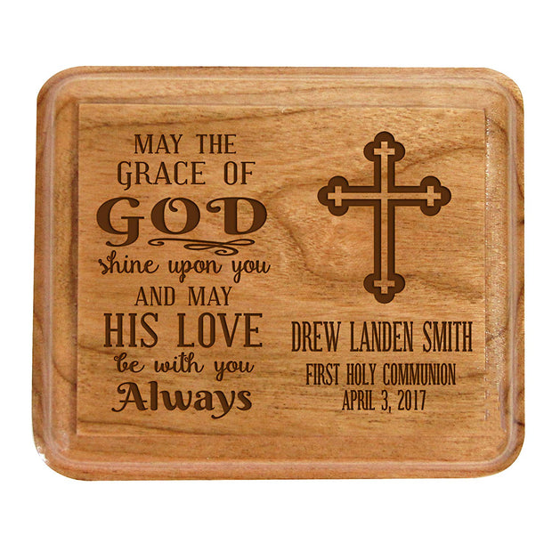Personalized Baptism Jewelry Box may the grace of God