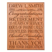 Personalized Retirement Gift Plaque For Men and Women - Thank You