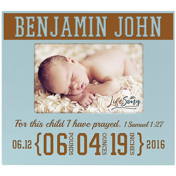 Personalized Baby Announcement Photo Frame Gift - For This Child