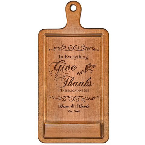 Personalized Cherry iPad Cook Book Holder - In Everything Give Thanks