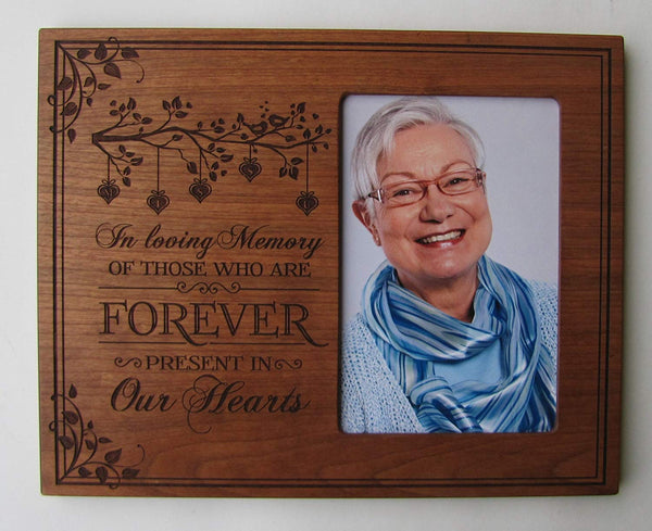 Memorial Picture Frame - In Loving Memory - Holds 4x6 Photo with glass