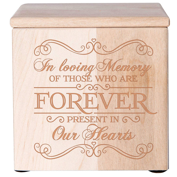 Cremation Urn for Human Ashes/Keepsake Box for Pet Ashes - In Loving Memory Of Those Who Are Forever Present