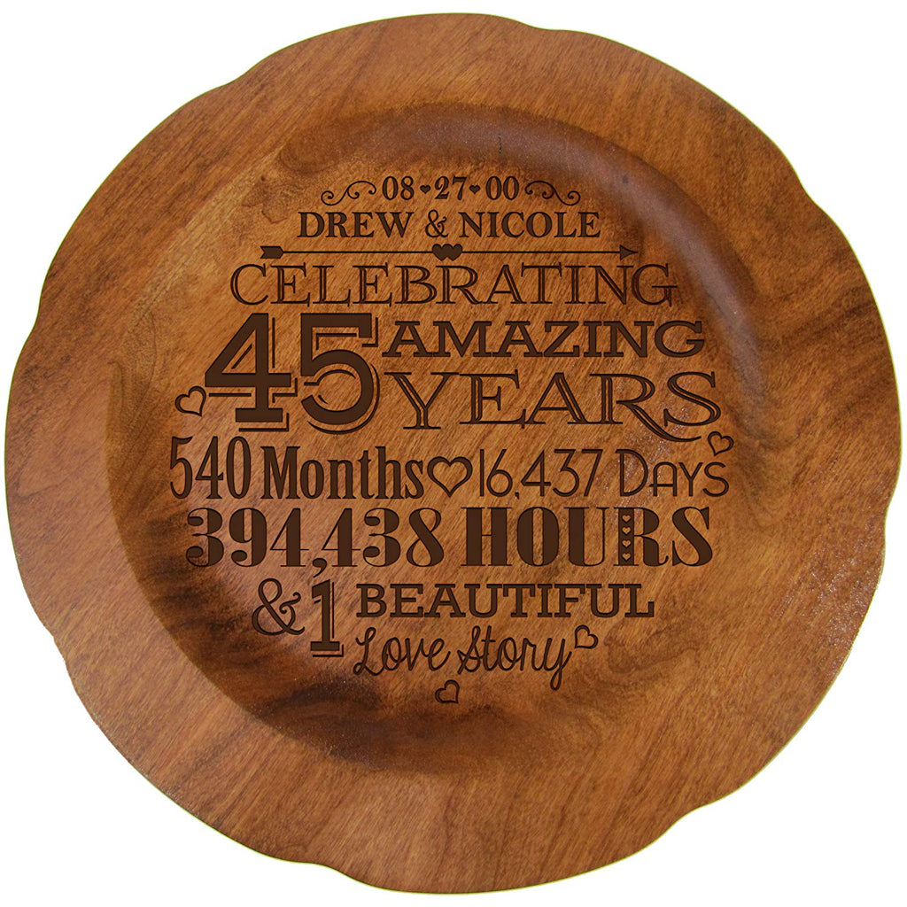 Wedding Anniversary Gifts Year By Year: 45th Wedding Anniversary Plate Gift