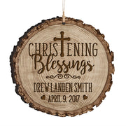 Personalized Wooden Ornament Gifts - Baptism And Christening Christening Blessings