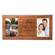 Personalized 1st Anniversary Double Photo Frame - Happy Anniversary Cherry