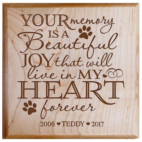 Maple personalized urn pet ashes cremation sympathy memorial animal