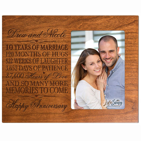 Anniversary Frame, 10 Years Married, Ten Year Anniversary Gift, Marriage Gift