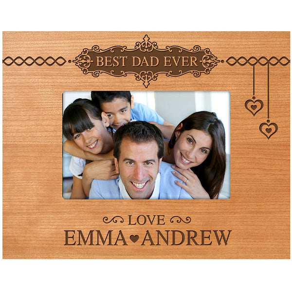 LifeSong Milestones Personalized Gifts for dad Engraved birthday gifts for dad Custom picture frame Best Dad Ever