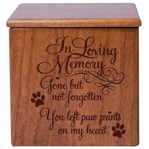Cremation Urns for Pets Memorial Keepsake box for Dogs and Cats, Urn for pet ashes In loving Memory Gone but not forgotton you left pawprints on my heart by LifeSong Milestones