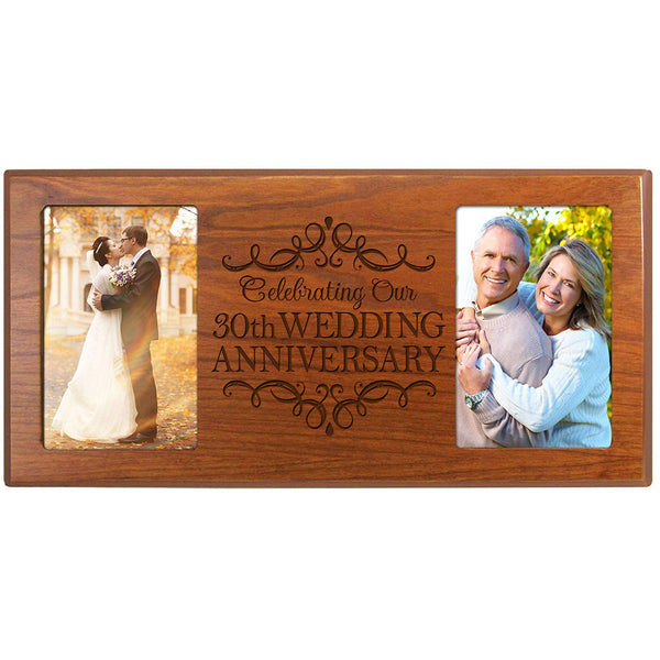 30th Wedding Anniversary 4x6 Photo Frame (Cherry)