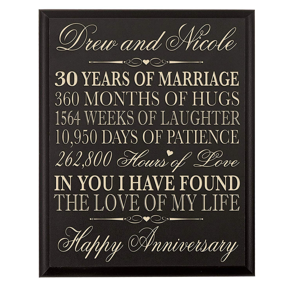 Lifesong Milestones Personalized 30th Wedding Anniversary Gift For Cou